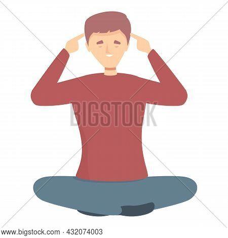 Idea Concentration Icon Cartoon Vector. Stress Work. Health Meditate