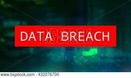 Futuristic Digital Technology Vector Background. Cyber Attack, Ransomware, Malware, Scareware