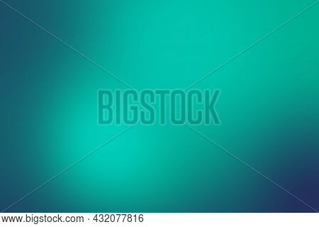 Abstract Gradient Color Background. Sesame Street Green Color Mix With Bellwether Blue. Background C