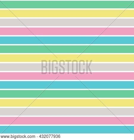Pattern Stripe Seamless, Spring Bud Green Mix With Limelight Yellow, White Sand Color, Prism Pink An