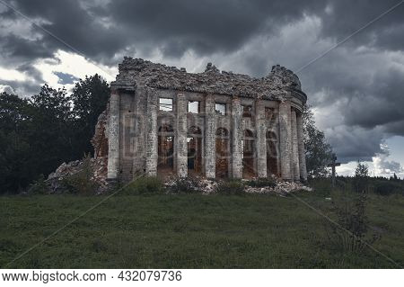 Ruins Of The Trinity Church In The Estate Of The Fifth Mountain In The Volosovsky District Of The Le