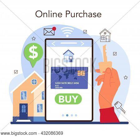 Real Estate Industry Online Service Or Platform. Realtor Assistance