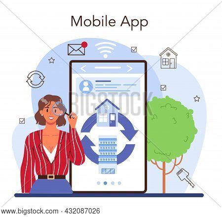 Real Estate Agency Online Service Or Platform. Qualified Realtor Service.