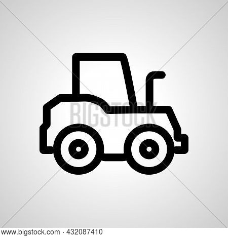 Tractor Vector Line Icon. Tractor Linear Outline Icon