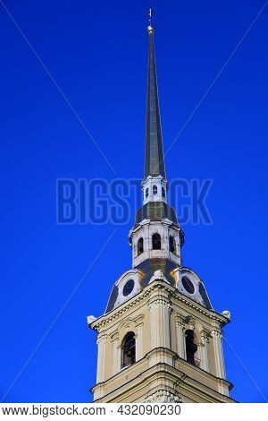 Peter And Paul\'s Cathedral In Peter And Paul\\\'s Fortress. Saint-petersburg, Russia. Color Winter