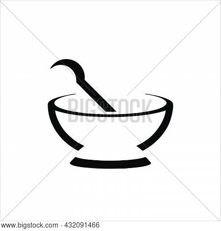 Mortar Bowl Icon Isolated On White Background From Beauty Collection. Mortar Bowl Icon Trendy And Mo