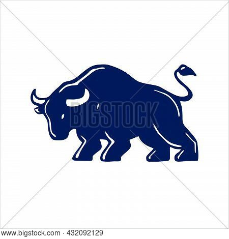 Bull Icon Isolated On White Background From Collection. Bull Icon Trendy And Modern Bull Symbol For