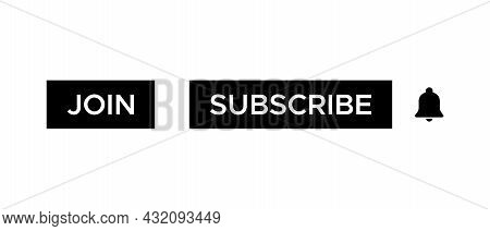 Join and Subscribe Button Icon Vector of Streaming App
