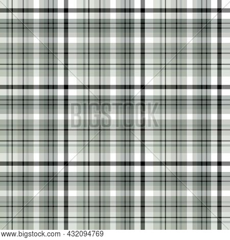 Seamless Pattern In Great Gray, Black And White Colors For Plaid, Fabric, Textile, Clothes, Tableclo
