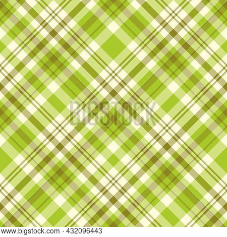 Seamless Pattern In Fresh Green Colors For Plaid, Fabric, Textile, Clothes, Tablecloth And Other Thi