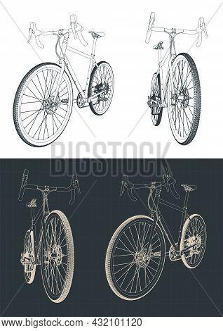 Gravel Bike Drawings