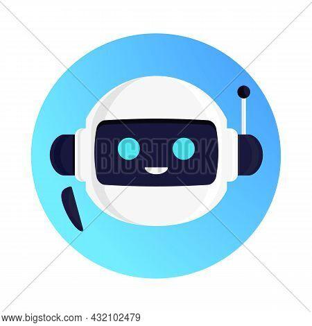 Robot Vector, Chat Bot Concept Illustration For Virtual Assistant Banner, Talk Bubble Speech, Digita