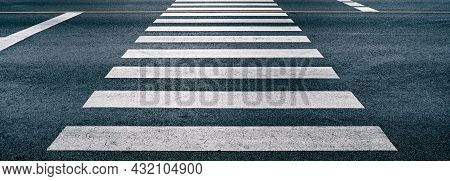 Cross Walk On The Road For Safety When People Walking Cross The Street, Pedestrian Crossing On Repai