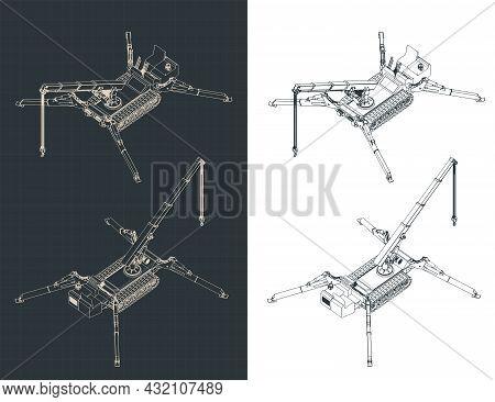 Mini Crane Isometric Blueprints