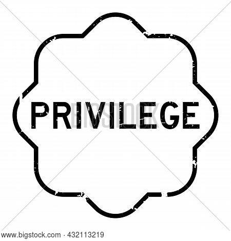 Grunge Black Privilege Word Rubber Seal Stamp On White Background