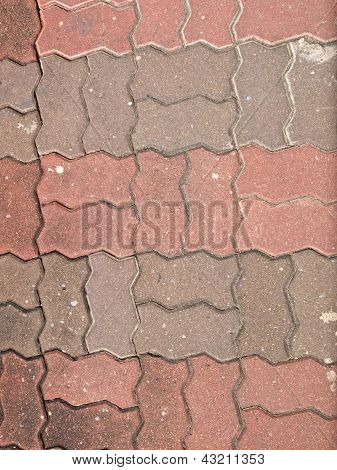 Old block pavement texture used as background poster