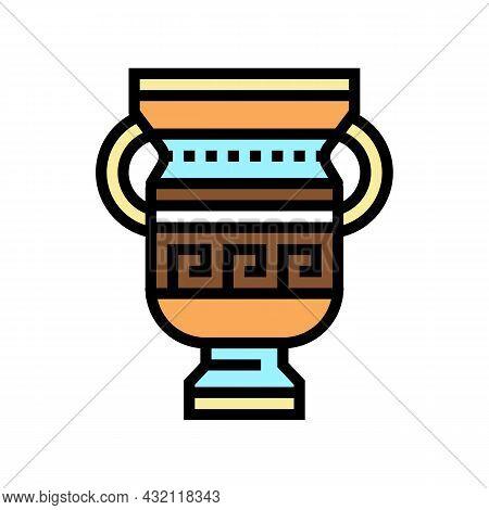 Amphora Ancient Greece Color Icon Vector. Amphora Ancient Greece Sign. Isolated Symbol Illustration
