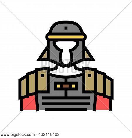 Legionary Ancient Rome Warrior Color Icon Vector. Legionary Ancient Rome Warrior Sign. Isolated Symb