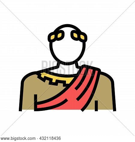 Emperor Ancient Rome Color Icon Vector. Emperor Ancient Rome Sign. Isolated Symbol Illustration