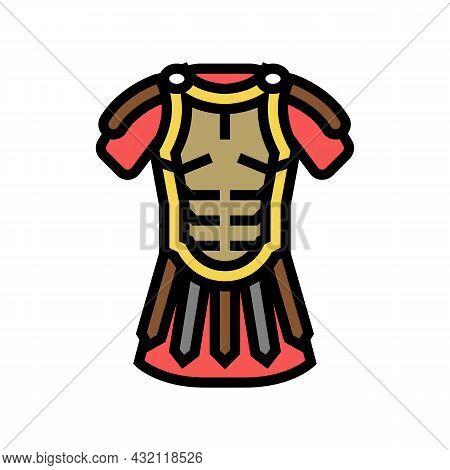 Legionary Clothes Ancient Rome Color Icon Vector. Legionary Clothes Ancient Rome Sign. Isolated Symb