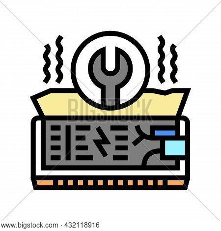 Air Conditioning Repair Color Icon Vector. Air Conditioning Repair Sign. Isolated Symbol Illustratio