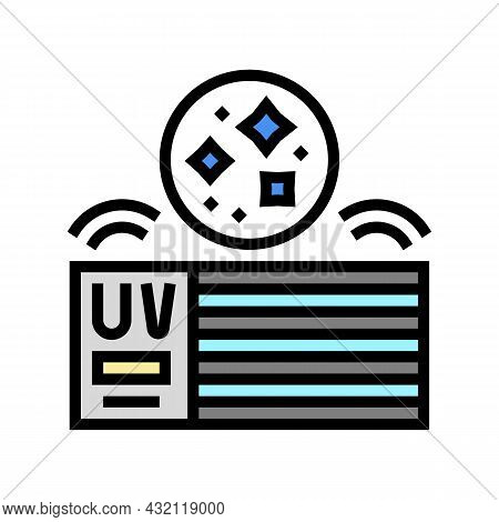 House Air Filtration System Color Icon Vector. House Air Filtration System Sign. Isolated Symbol Ill