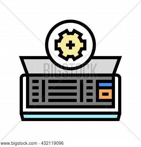 Air Conditioning Maintenance Color Icon Vector. Air Conditioning Maintenance Sign. Isolated Symbol I