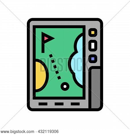Gps Device Golf Game Color Icon Vector. Gps Device Golf Game Sign. Isolated Symbol Illustration