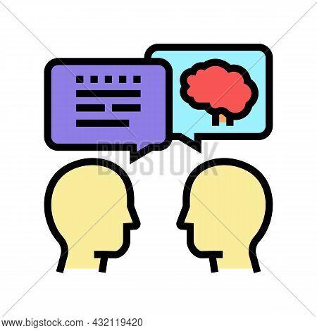 Intelligent Talking Color Icon Vector. Intelligent Talking Sign. Isolated Symbol Illustration