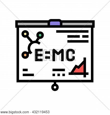 Physics Studying Color Icon Vector. Physics Studying Sign. Isolated Symbol Illustration