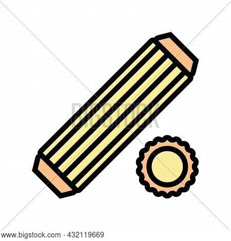 Dowel Screw Color Icon Vector. Dowel Screw Sign. Isolated Symbol Illustration