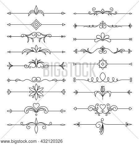 Page Decor, Borders And Dividers Decor Elements
