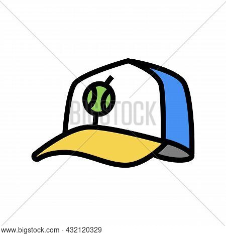 Cap Tennis Player Color Icon Vector. Cap Tennis Player Sign. Isolated Symbol Illustration