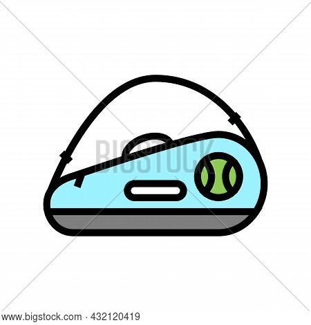 Tennis Bag Color Icon Vector. Tennis Bag Sign. Isolated Symbol Illustration