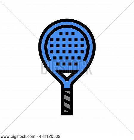 Paddle Racket Color Icon Vector. Paddle Racket Sign. Isolated Symbol Illustration