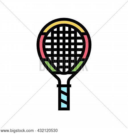 Junior Tennis Racquet Color Icon Vector. Junior Tennis Racquet Sign. Isolated Symbol Illustration