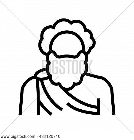 Human Ancient Greece Line Icon Vector. Human Ancient Greece Sign. Isolated Contour Symbol Black Illu