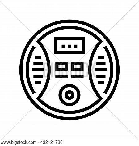 Carbon Monoxide Detector Line Icon Vector. Carbon Monoxide Detector Sign. Isolated Contour Symbol Bl
