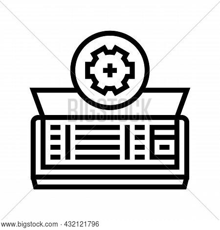Air Conditioning Maintenance Line Icon Vector. Air Conditioning Maintenance Sign. Isolated Contour S