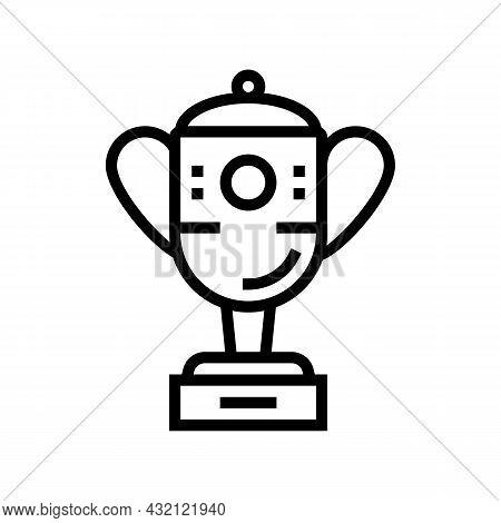 Champion Award Golf Tournament Line Icon Vector. Champion Award Golf Tournament Sign. Isolated Conto