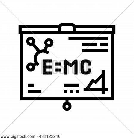Physics Studying Line Icon Vector. Physics Studying Sign. Isolated Contour Symbol Black Illustration