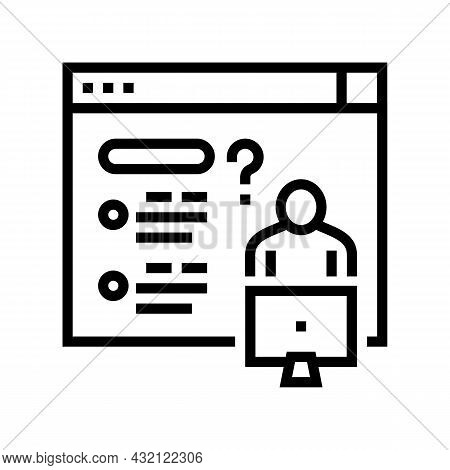 Asking Question For Solve Problem Line Icon Vector. Asking Question For Solve Problem Sign. Isolated