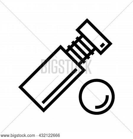 Standoff Screw Line Icon Vector. Standoff Screw Sign. Isolated Contour Symbol Black Illustration