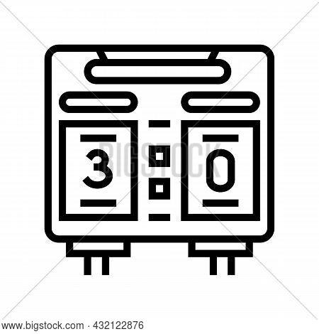 Scoreboard Soccer Line Icon Vector. Scoreboard Soccer Sign. Isolated Contour Symbol Black Illustrati