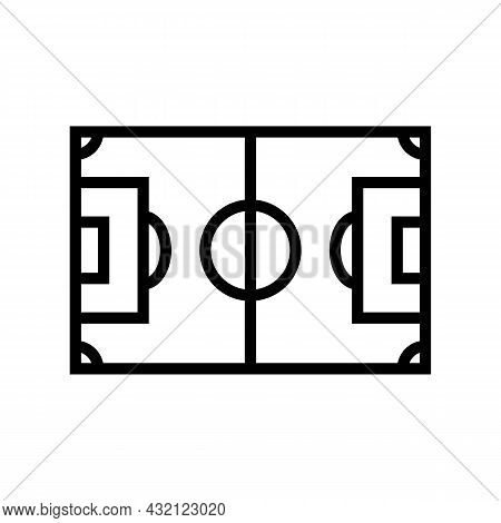 Field Soccer Line Icon Vector. Field Soccer Sign. Isolated Contour Symbol Black Illustration