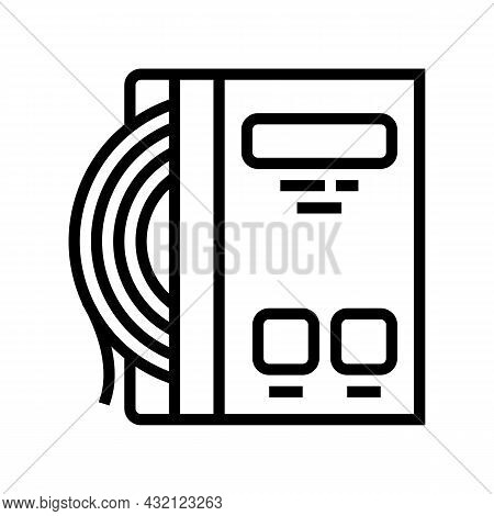 Strings Tennis Line Icon Vector. Strings Tennis Sign. Isolated Contour Symbol Black Illustration