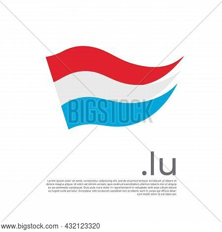 Luxembourg Flag. Stripes Colors Of Luxembourgish Flag On White Background. Vector Design National Po