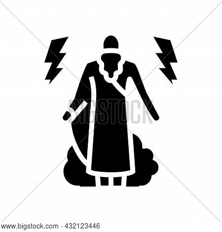 Gods Ancient Greece Glyph Icon Vector. Gods Ancient Greece Sign. Isolated Contour Symbol Black Illus