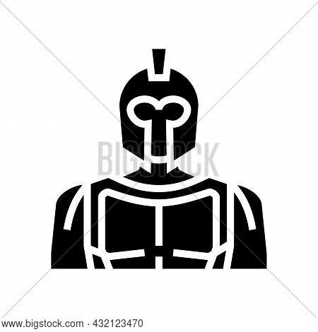 Spartan Ancient Greece Glyph Icon Vector. Spartan Ancient Greece Sign. Isolated Contour Symbol Black