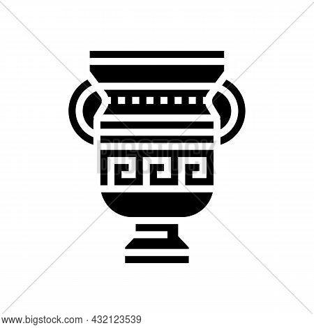 Amphora Ancient Greece Glyph Icon Vector. Amphora Ancient Greece Sign. Isolated Contour Symbol Black